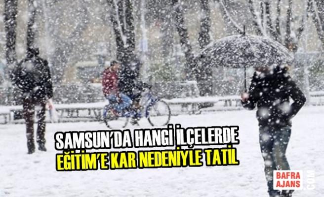 Samsun'da Eğitime Kar Tatili Olan İlçeler