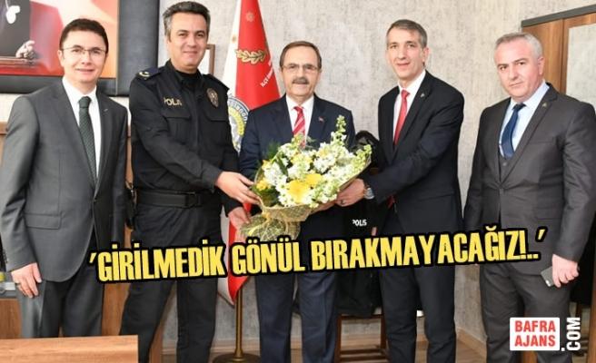 Başkan Zihni Şahin'den Atakum'da Ziyaret Turu