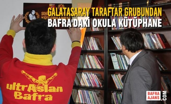 Galatasaray Taraftar Grubundan Bafra'daki Okula Kütüphane
