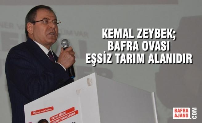 Kemal Zeybek; Bafra Ovası Eşsiz Tarım Alanıdır