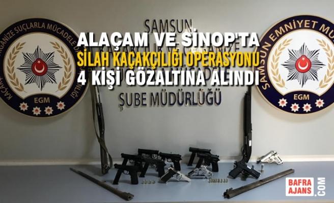 Samsun Merkezli Silah Kaçakçılığı Operasyonu: 4 Gözaltı