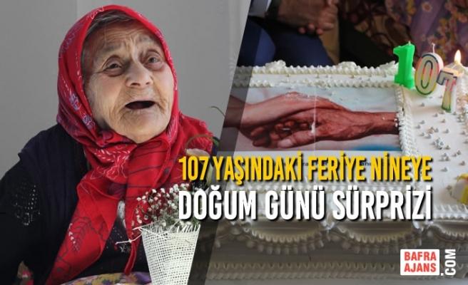 107 Yaşındaki Feriye Nineye Doğum Günü Sürprizi