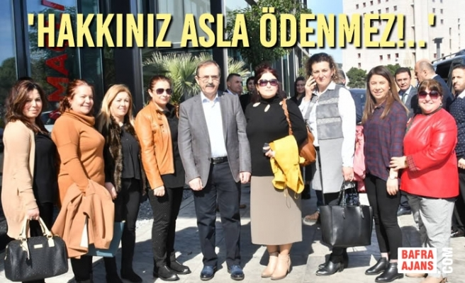 Başkan Zihni Şahin, Kadın Memurlarla Bir Arada