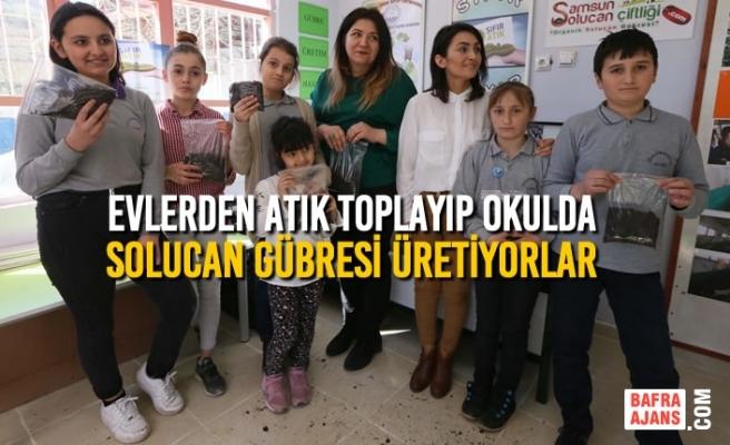 Evlerden Atık Toplayıp Okulda Solucan Gübresi Üretiyorlar