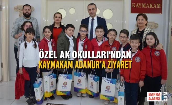 Özel AK Okulları'ndan Kaymakam Adanur'a Ziyaret
