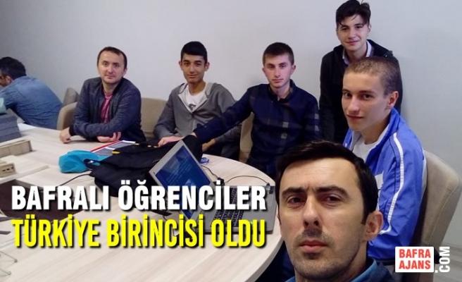 Bafralı Öğrenciler Türkiye Birincisi Oldu