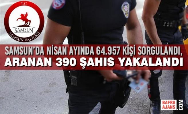 Samsun'da Nisan Ayında 64.957 Kişi Sorgulandı, 390 Şahıs Yakalandı