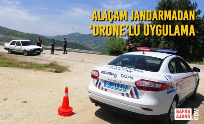 Alaçam Jandarmadan 'Drone'lu Uygulama
