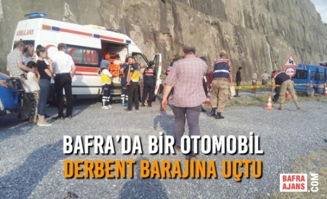Bafra'da Bir Otomobil Derbent Barajına Uçtu