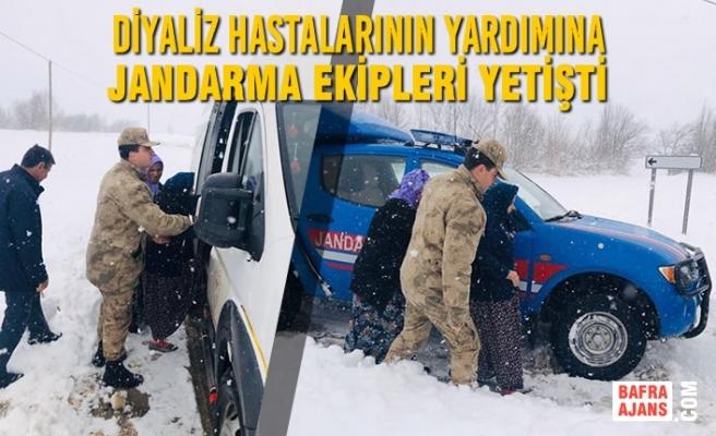 Diyaliz Hastalarının Yardımına Jandarma Ekipleri Yetişti
