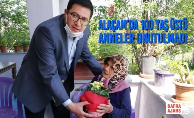 Alaçam'da 100 Yaş Üstü Anneler Unutulmadı