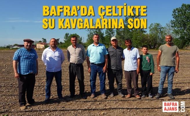 Bafra'da Çeltikte Su Kavgalarına Son