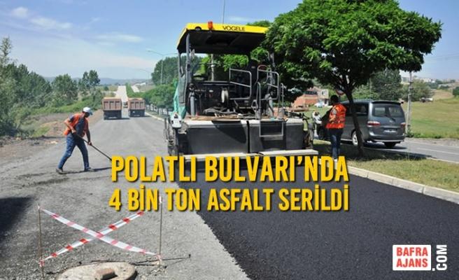 Polatlı Bulvarı'nda 4 Bin Ton Asfalt Serildi