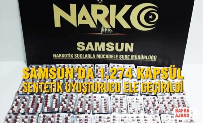 Samsun'da 1.274 Kapsül Sentetik Uyuşturucu Ele Geçirildi
