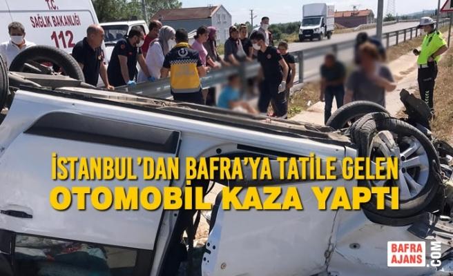İstanbul'dan Bafra'ya Tatile Gelen Araç Kaza Yaptı