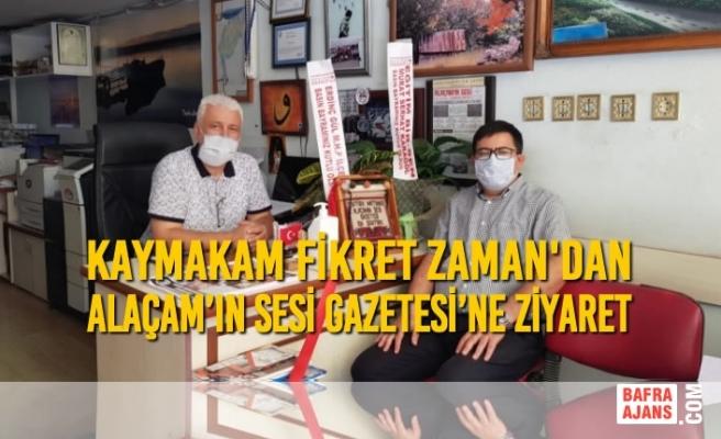 Kaymakam Zaman'dan 'Alaçam'ın Sesi Gazetesi'ne Ziyaret