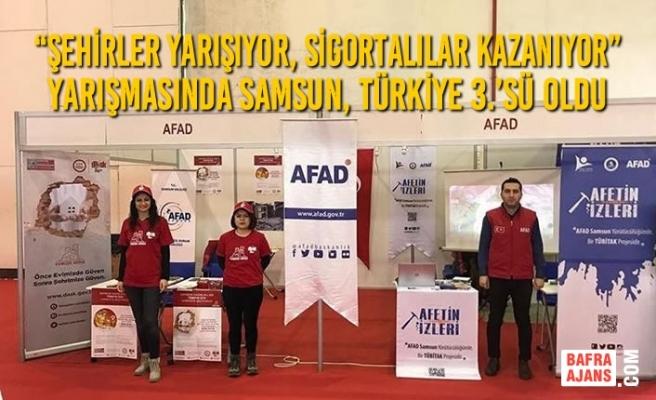 """Samsun """"Şehirler Yarışıyor, Sigortalılar Kazanıyor"""" Yarışmasında Türkiye 3.'sü oldu."""