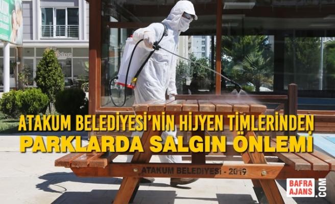 Atakum Belediyesi'nin Hijyen Timlerinden Parklarda Salgın Önlemi