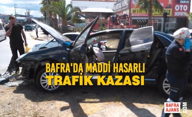 Bafra'da Maddi Hasarlı Trafik Kazası