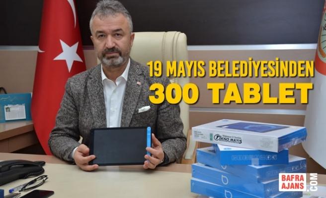 19 Mayıs Belediyesinden 300 Tablet