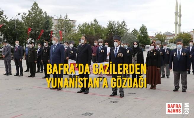 Bafra'da Gazilerden Yunanistan'a Gözdağı