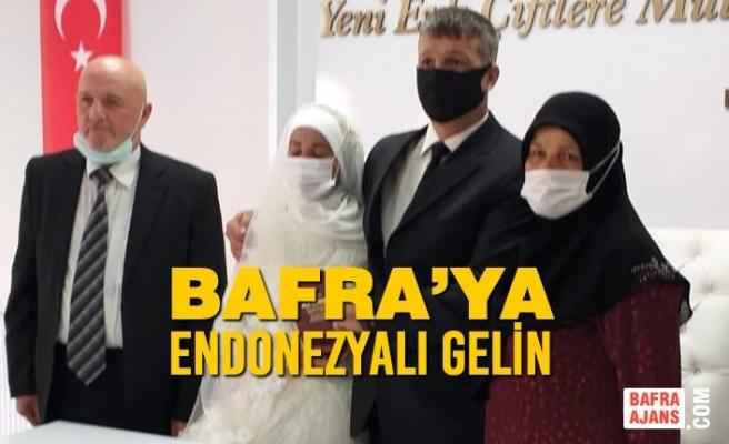 Bafra'ya Endonezyalı Gelin