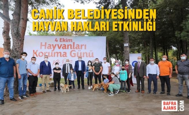 Canik Belediyesinden Hayvan Hakları Etkinliği