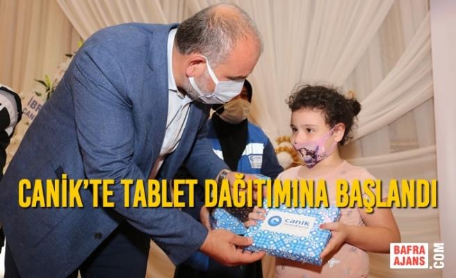 Canik'te Tablet Dağıtımına Başlandı