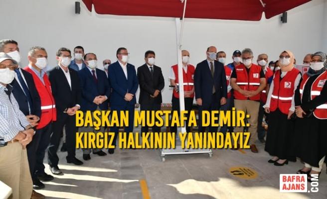Samsun Büyükşehir Belediyesi'nden Kardeş Şehir Bişkek'e 180 Bin Maske Yardımı