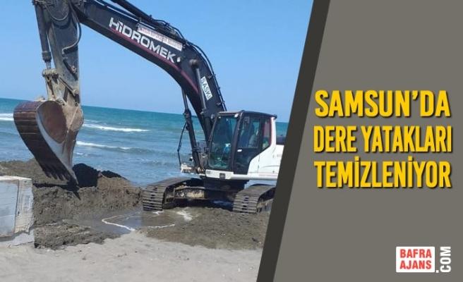 Samsun'da Dere Yatakları Temizleniyor