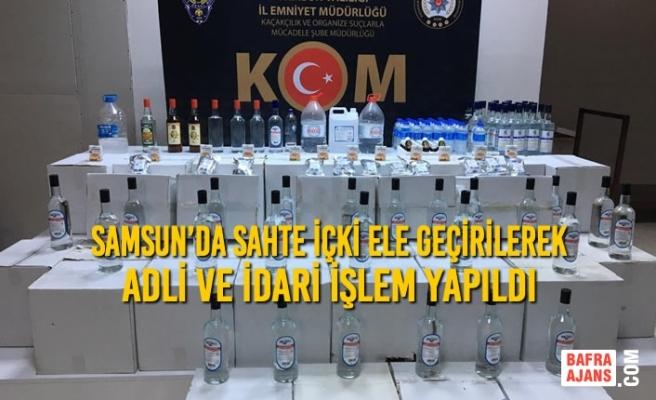 Samsun'da Sahte İçki Ele Geçirilerek Adli ve İdari İşlem Yapıldı