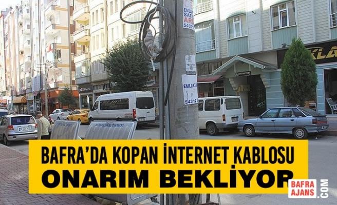 Bafra'da Kopan İnternet Kablosu Onarım Bekliyor