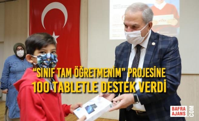 """Başkan Demirtaş; """"Sınıf Tam Öğretmenim"""" Projesine 100 Tabletle Destek Verdi"""