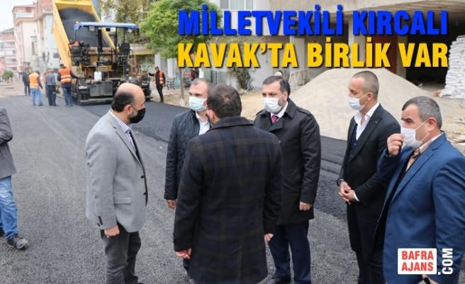 Milletvekili Kırcalı; Kavak'ta Birlik Var
