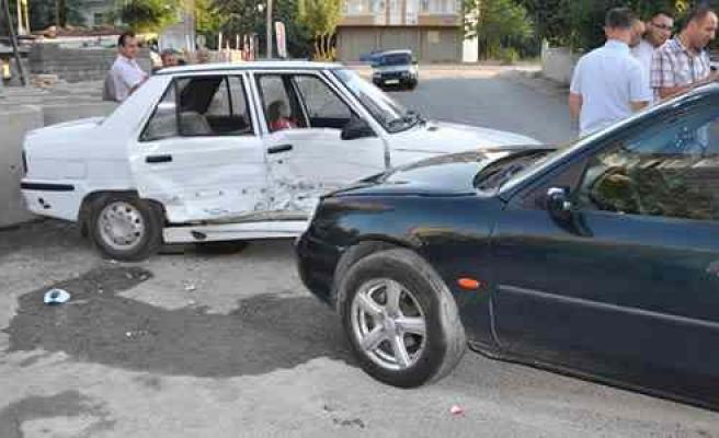 Bafra'da Trafik Kazası: 1 Yaralı