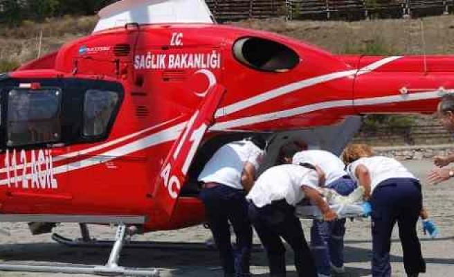 Beyin Kanaması Geçiren Hastanın İmdadına Hava Ambulansı Yetişti
