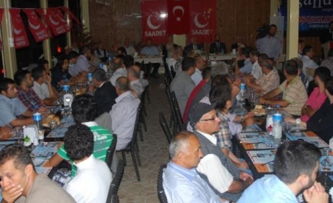 Saadet Partisi Genel Başkanı Mustafa Kamalak Giresun'da Partisinin Geleneksel Sahur Programına Katıldı
