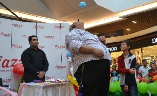 Samsun Piazza'da Balon Şampiyonundan Şov