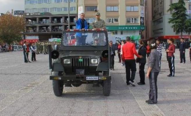 Samsun'da Cumhuriyet Bayramı Provası