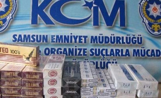 Samsun'da Gümrük Kaçağı Sigara Ele Geçti