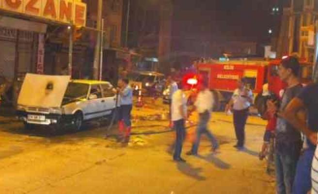 Seyir Halindeyken Yanan Lpg'li Araç Söndürüldü