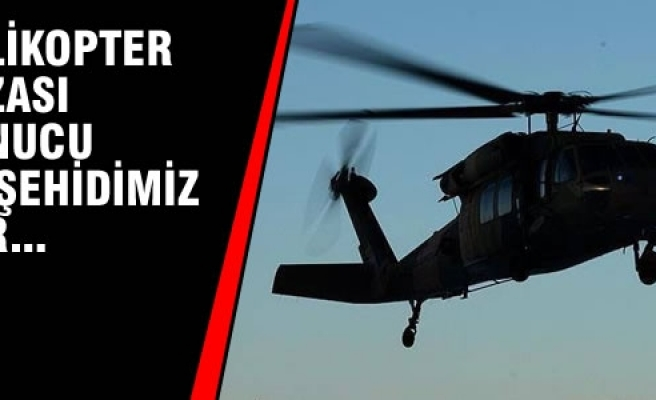 Skorsky Tipi Polis Helikopteri Düştü; 12 Şehit