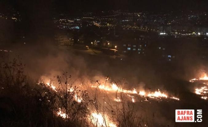 Samsun'daki Anız Yangını; Korkulu Anlar Yaşattı