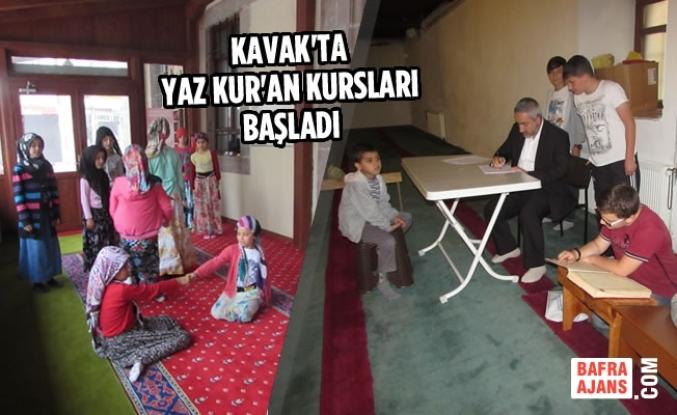 Kavak'ta Yaz Kur'an Kursları Başladı