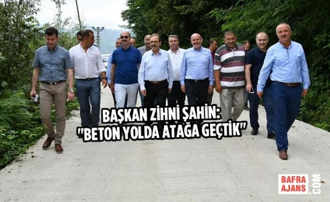 Samsun'dan Ordu Sınırına Kadar Yol Çalışması