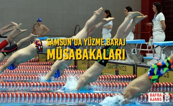 Samsun'da Yüzme Baraj Müsabakaları