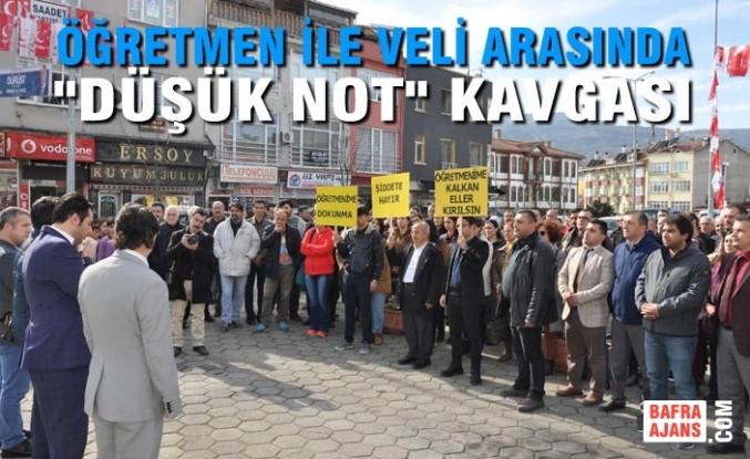 """Sinop'ta Öğretmen İle Veli Arasında """"Düşük Not"""" Kavgası"""