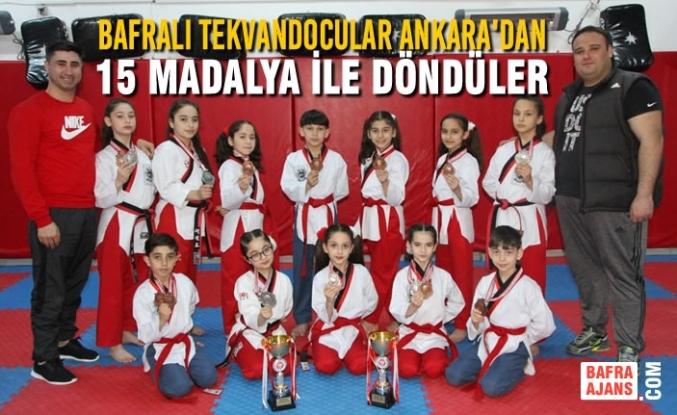 Bafralı Tekvandocular Ankara'dan 15 Madalya İle Döndü