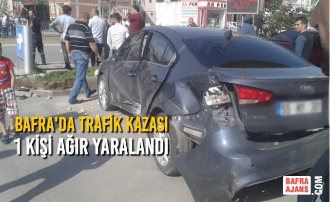 Bafra'da Trafik Kazası; 1 Kişi Ağır Yaralandı