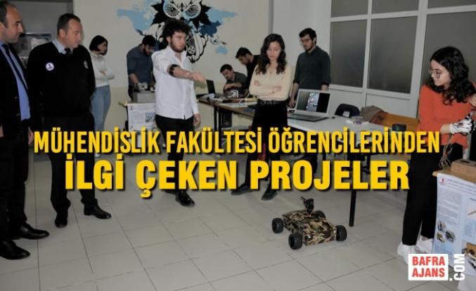 Mühendislik Fakültesi Öğrencilerinden İlgi Çeken Projeler